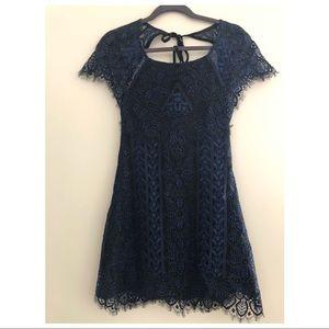 For Love & Lemons navy blue mini dress